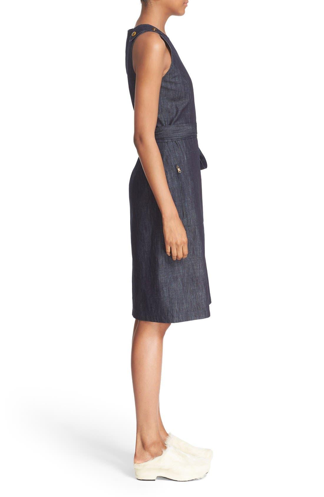 Alternate Image 5  - Tomas Maier Belted Denim Dress
