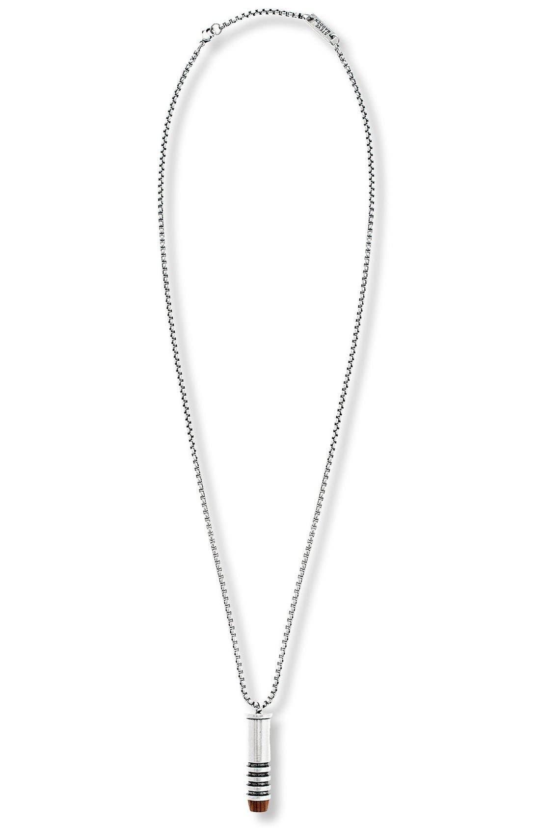 Steve Madden Wood Tip Bullet Pendant Necklace