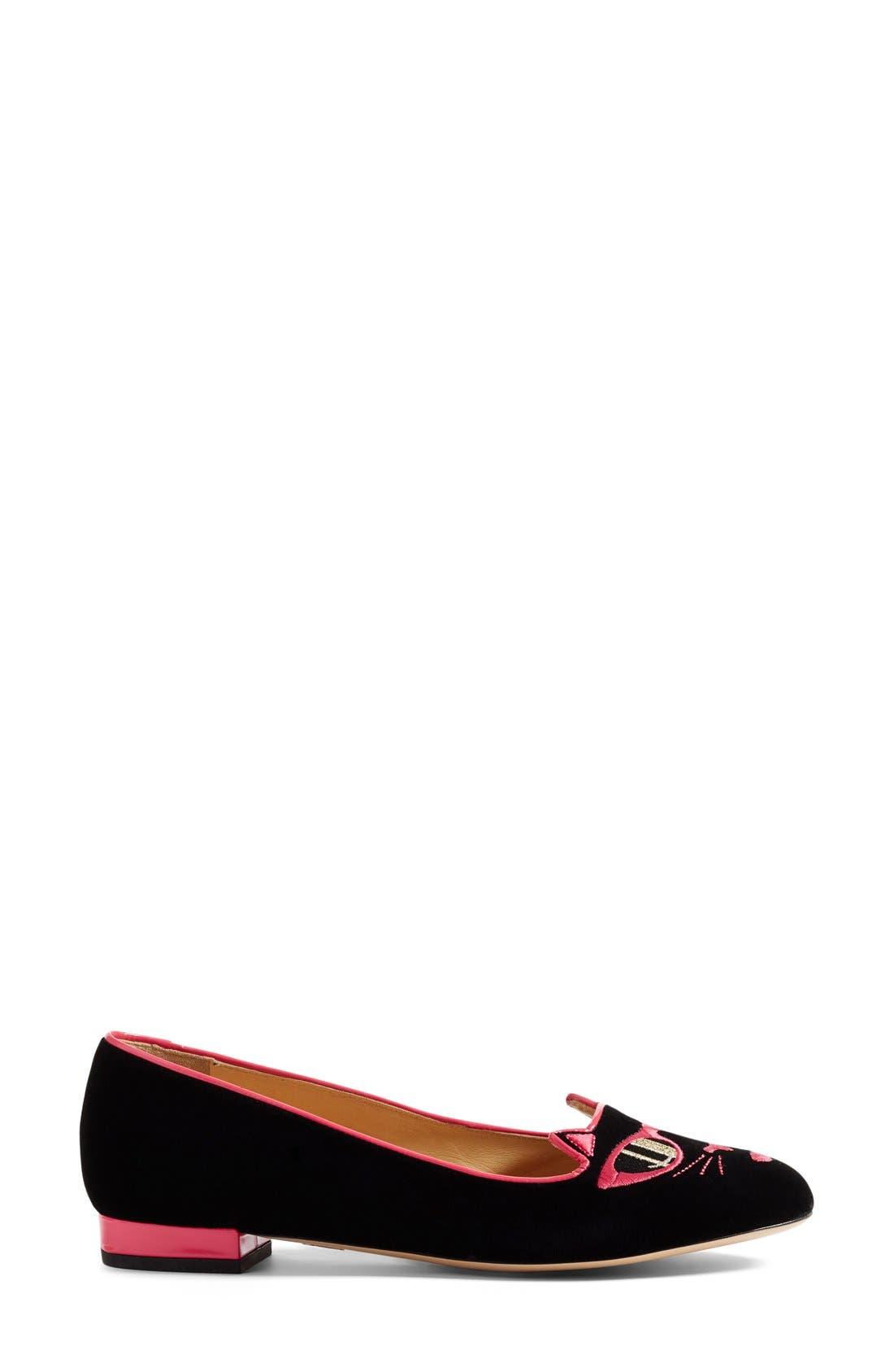 Alternate Image 4  - Charlotte Olympia x Barbie® Pretty In Pink Kitty Flat (Women)