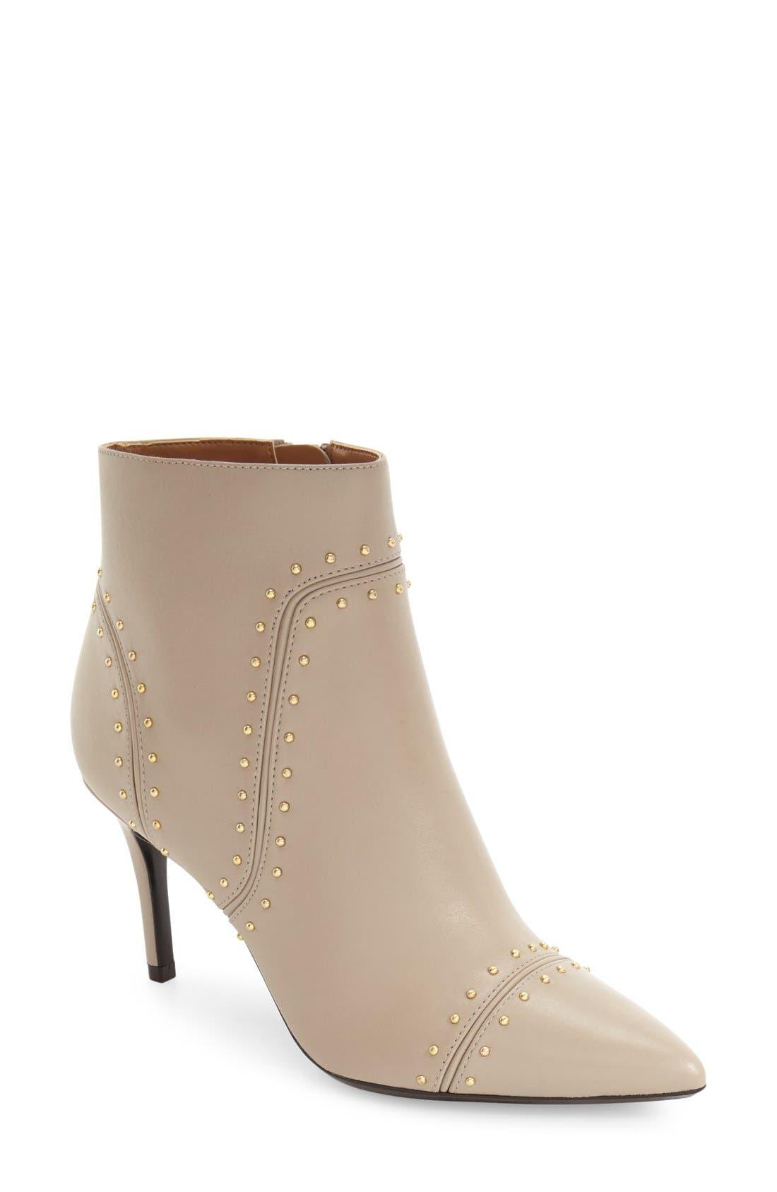 Main Image - Calvin Klein Grazie Studded Pointy Toe Bootie (Women)
