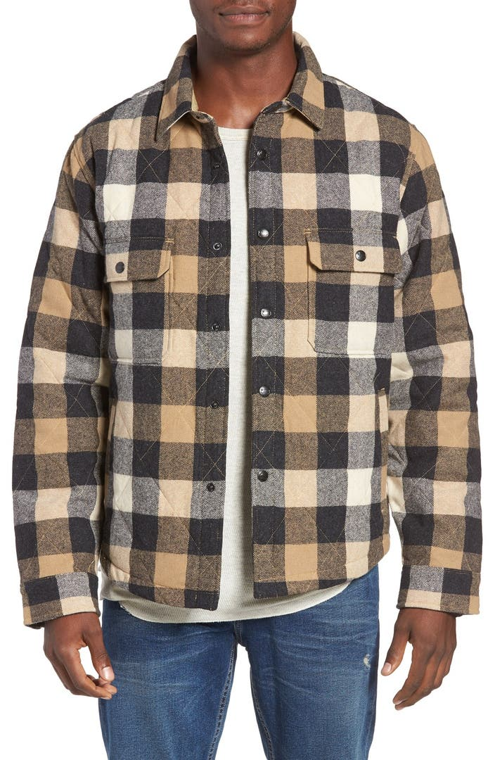Woolrich Quilted Wool Check Shirt Jacket Nordstrom