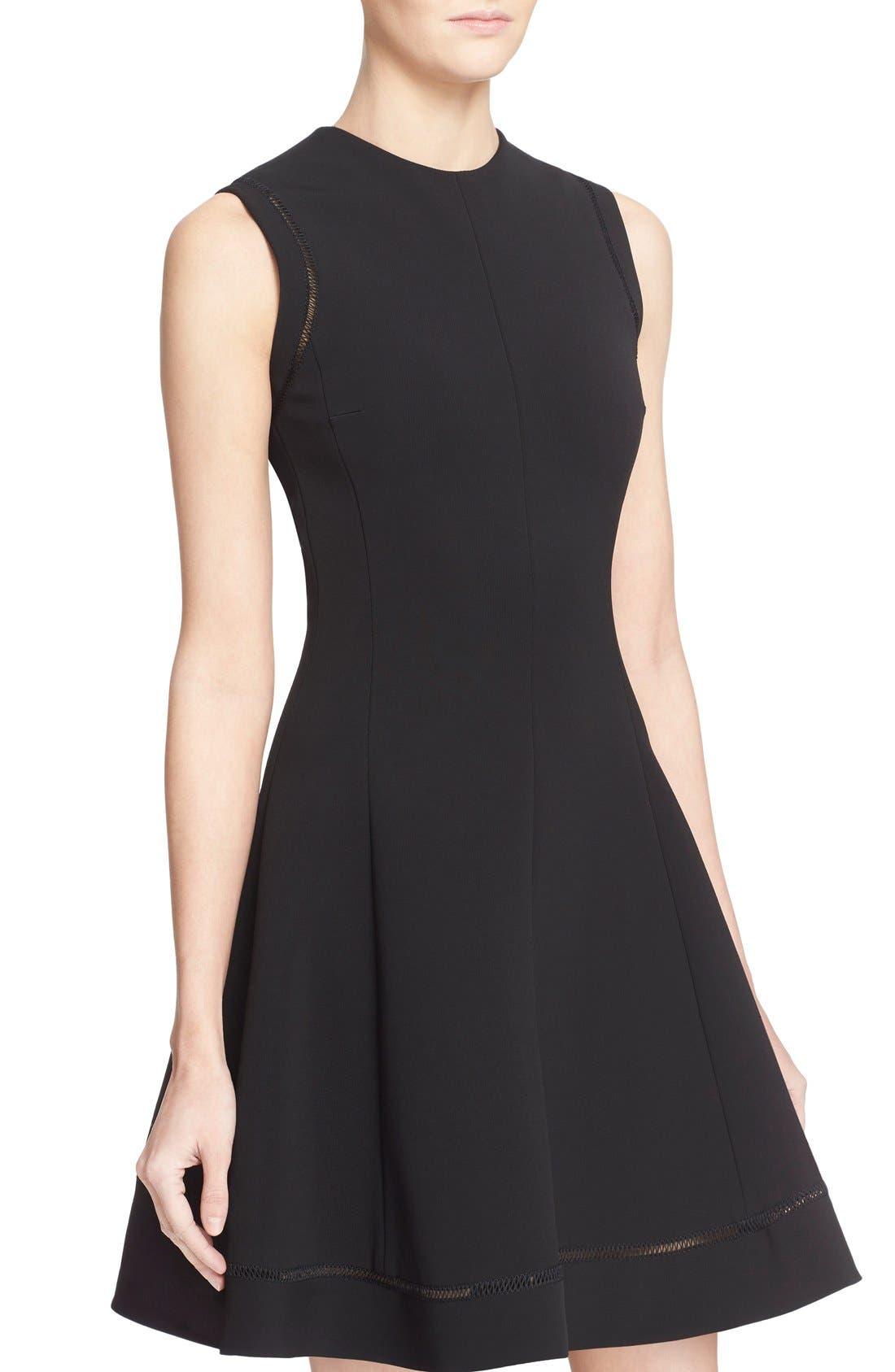Alternate Image 6  - Victoria Beckham Rib Knit Fit & Flare Dress