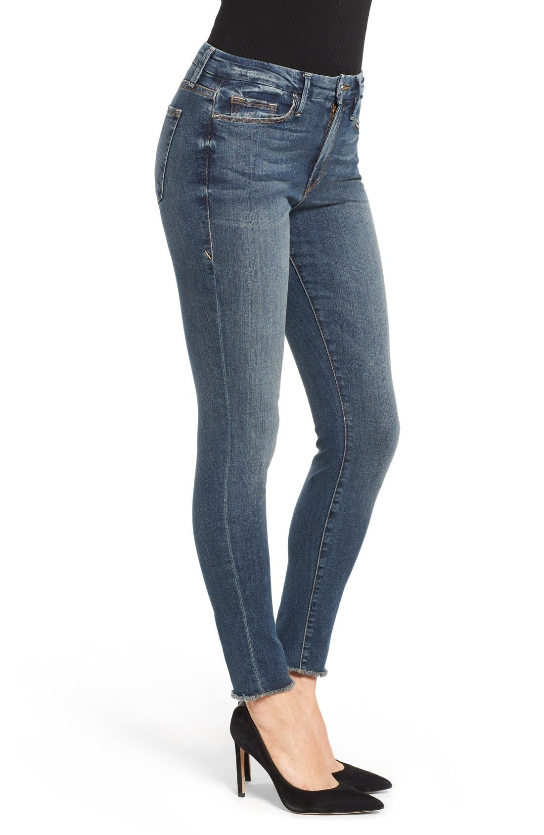 Alternate Image 3  - Good American Good Legs High Rise Skinny Jeans (Blue 005)