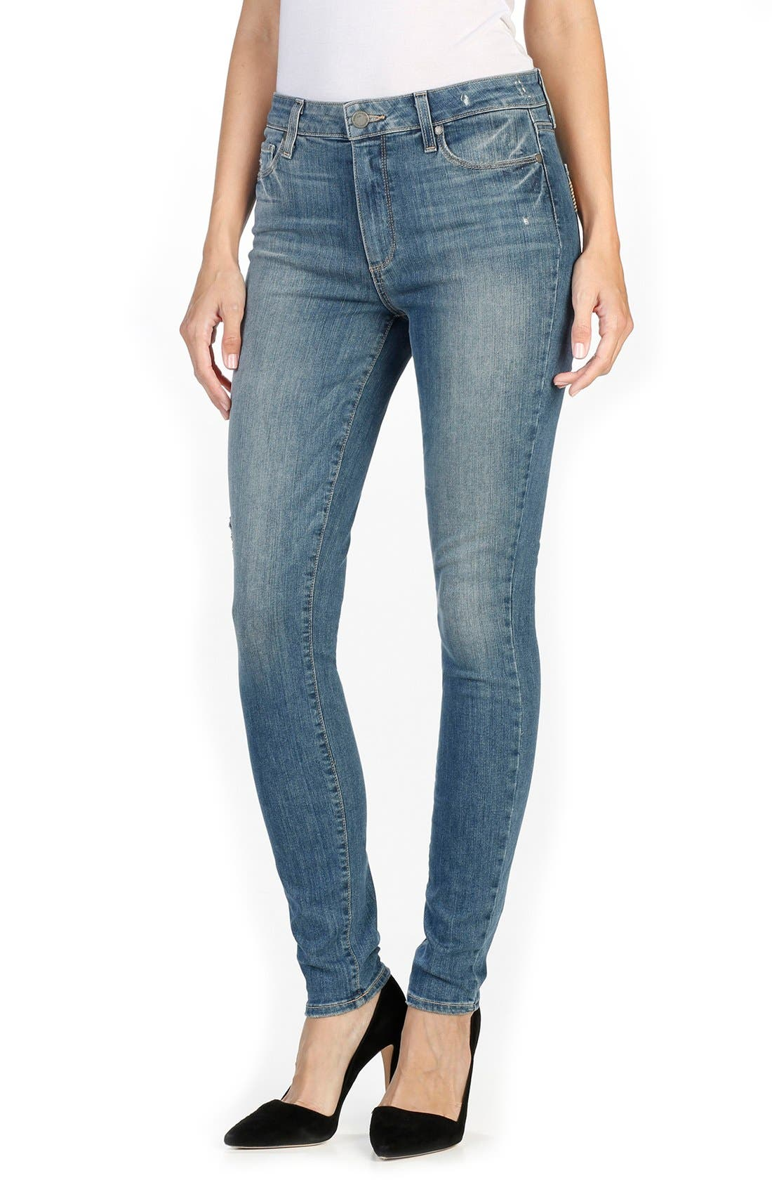 Alternate Image 1 Selected - Paige Denim Hoxton High Waist Ultra Skinny Jeans (Big Sur)