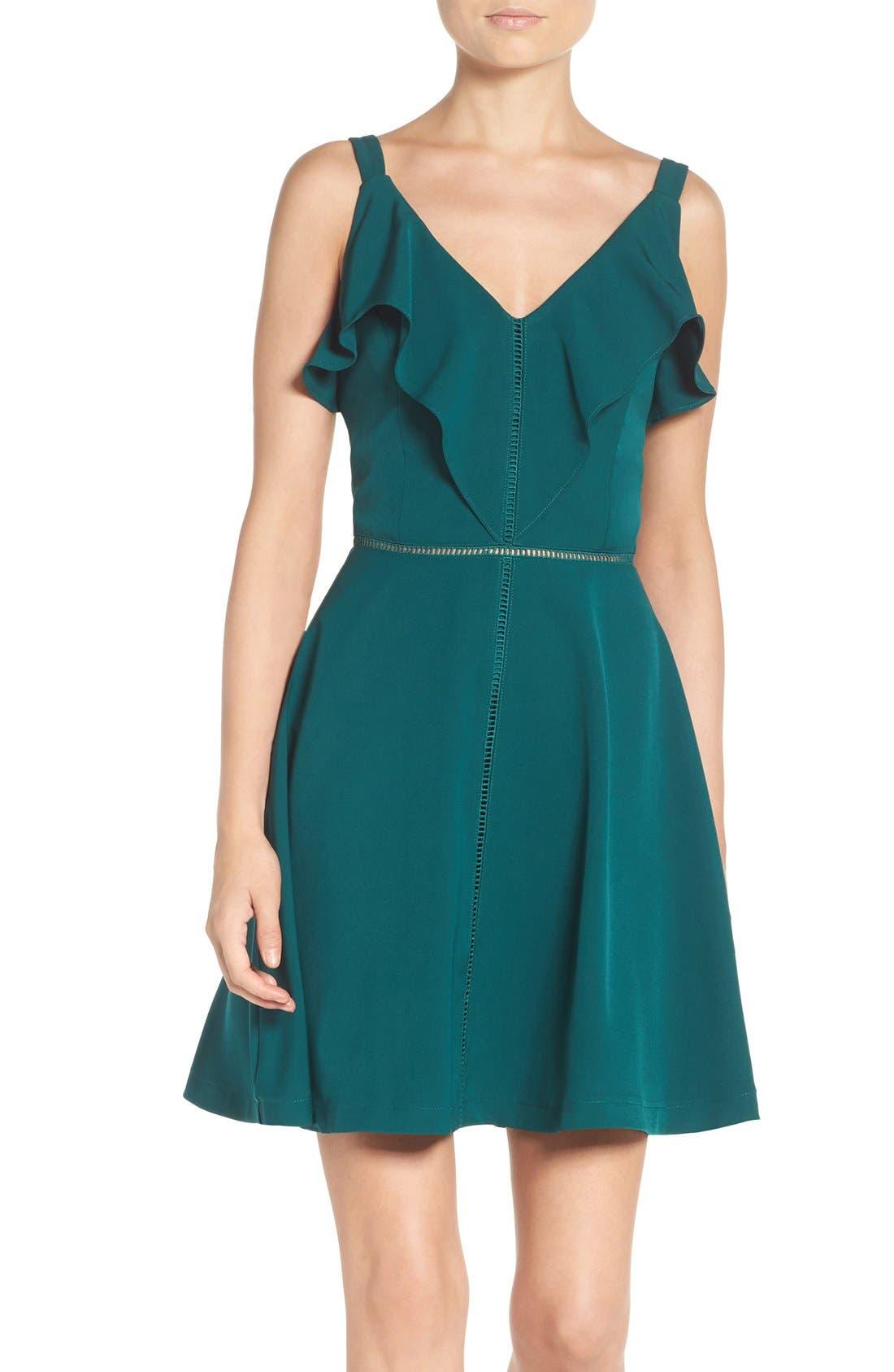 Alternate Image 1 Selected - Adelyn Rae Fit & Flare Dress