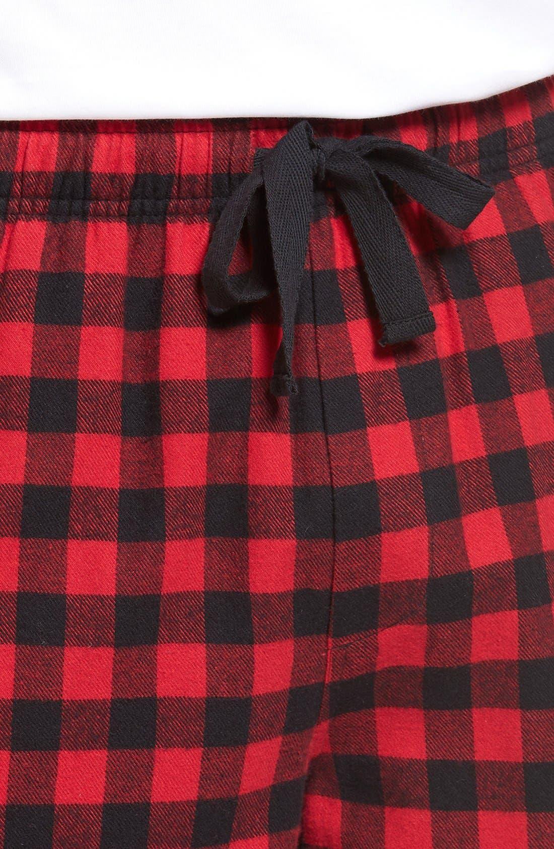 Alternate Image 4  - Nordstrom Men's Shop Flannel Lounge Pants