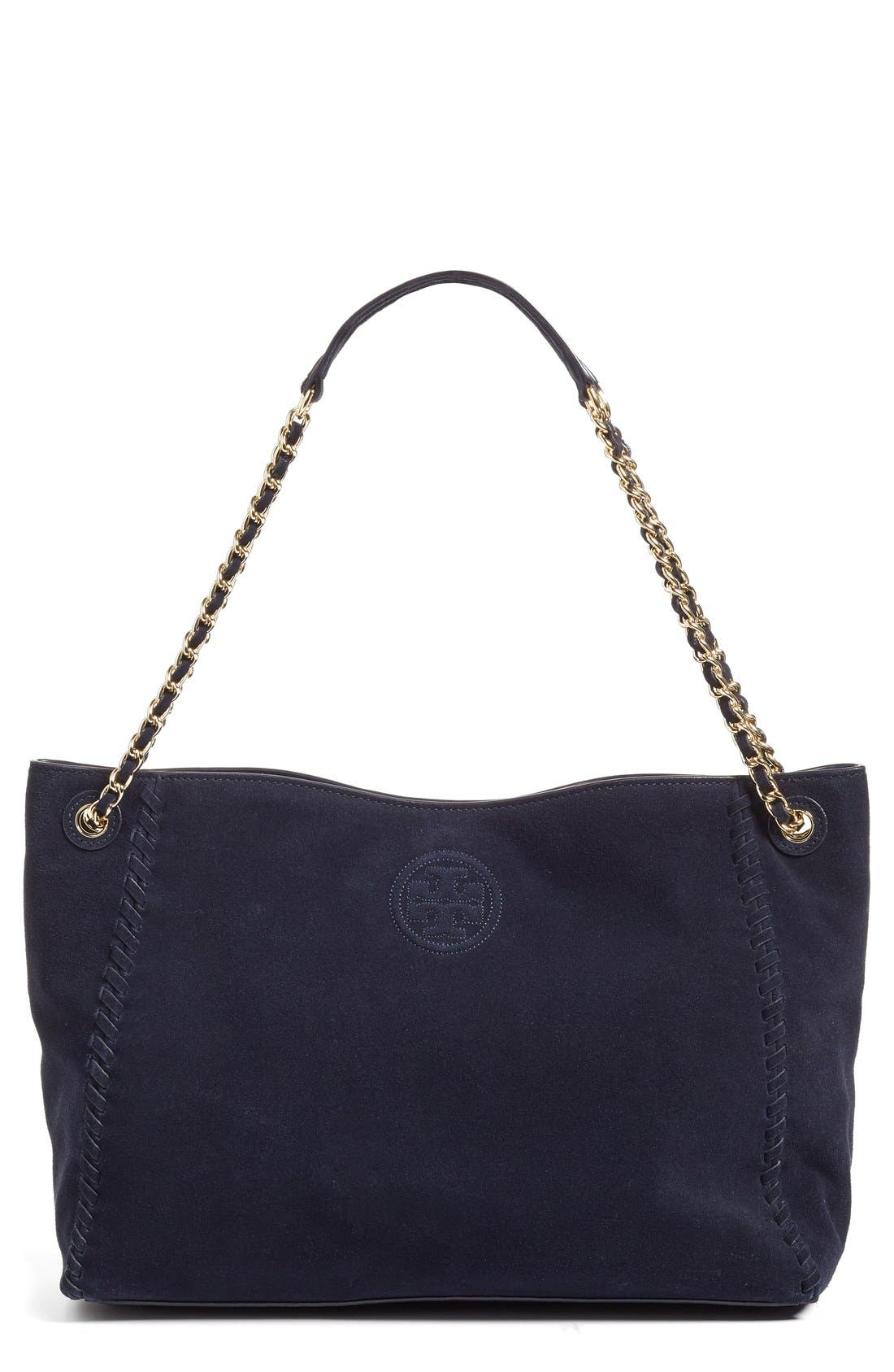 Main Image - Tory Burch 'Marion' Suede Tote