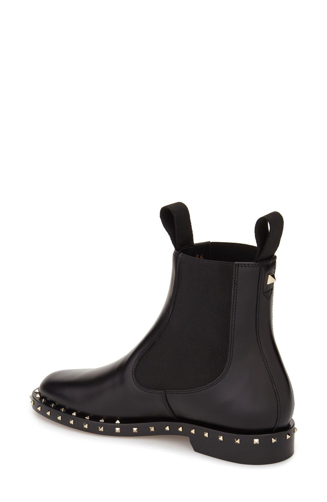 Alternate Image 2  - Valentino Rockstud Chelsea Boot (Women)