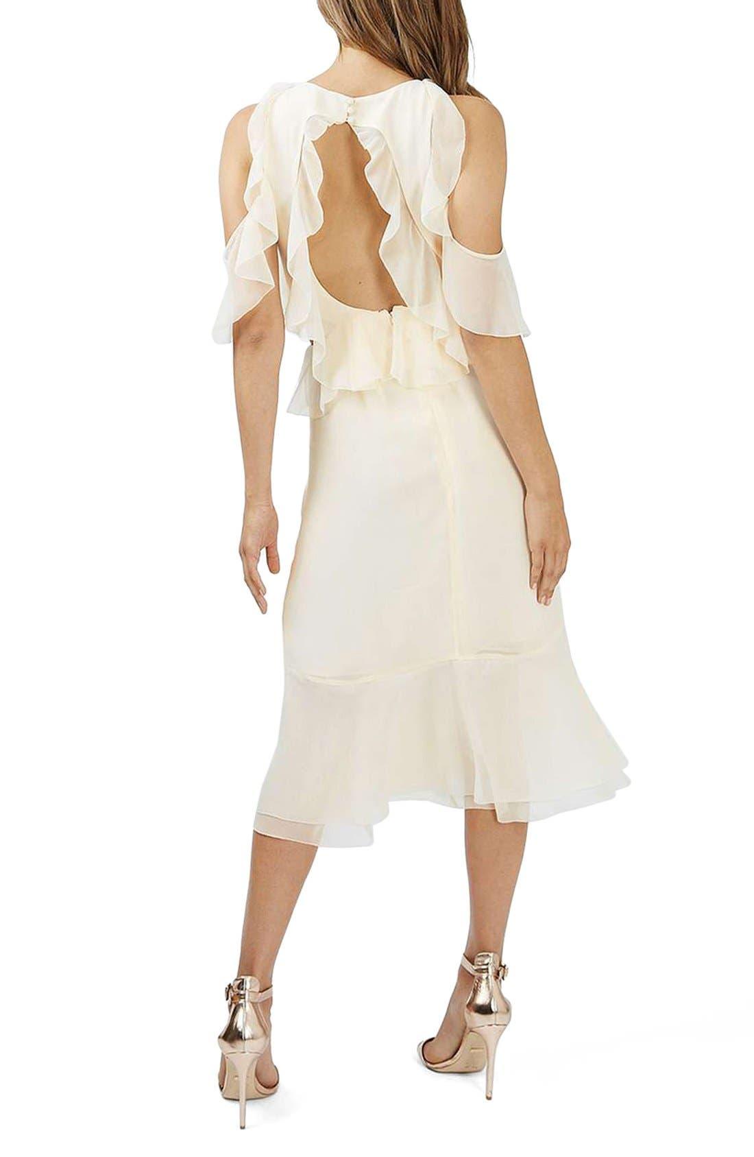 Alternate Image 2  - Topshop Ruffle Open Back Midi Dress