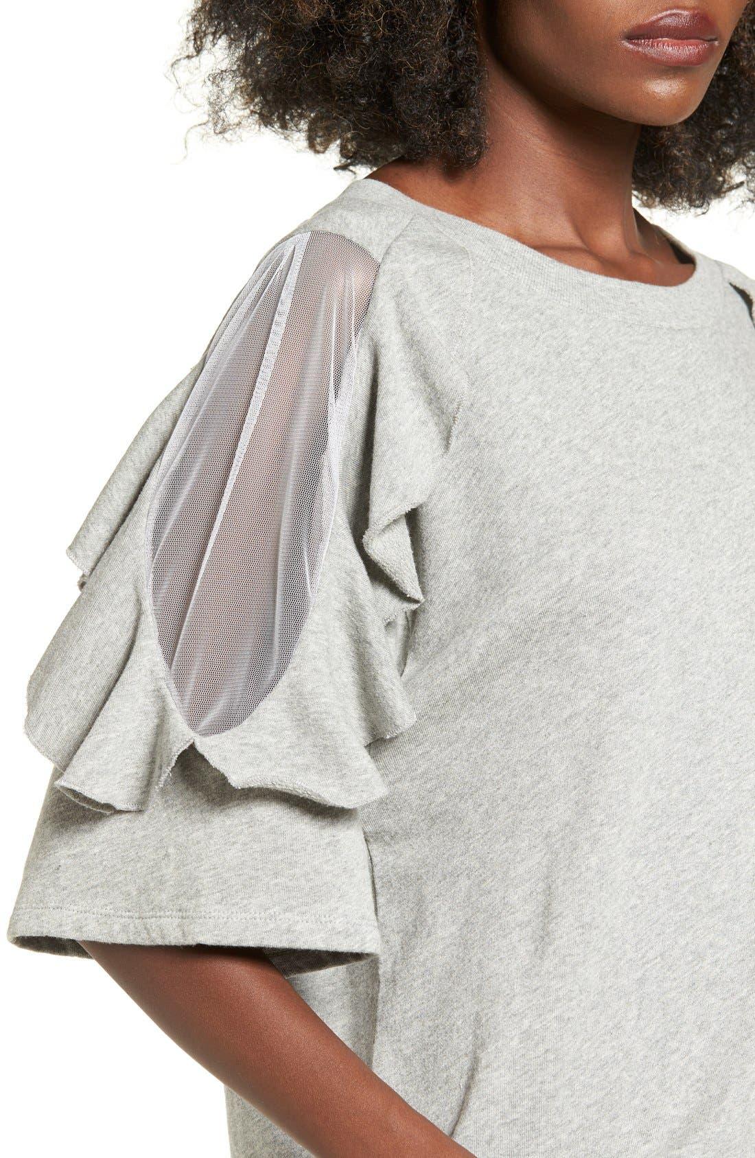 Alternate Image 4  - BP. Ruffle Sleeve Sweatshirt