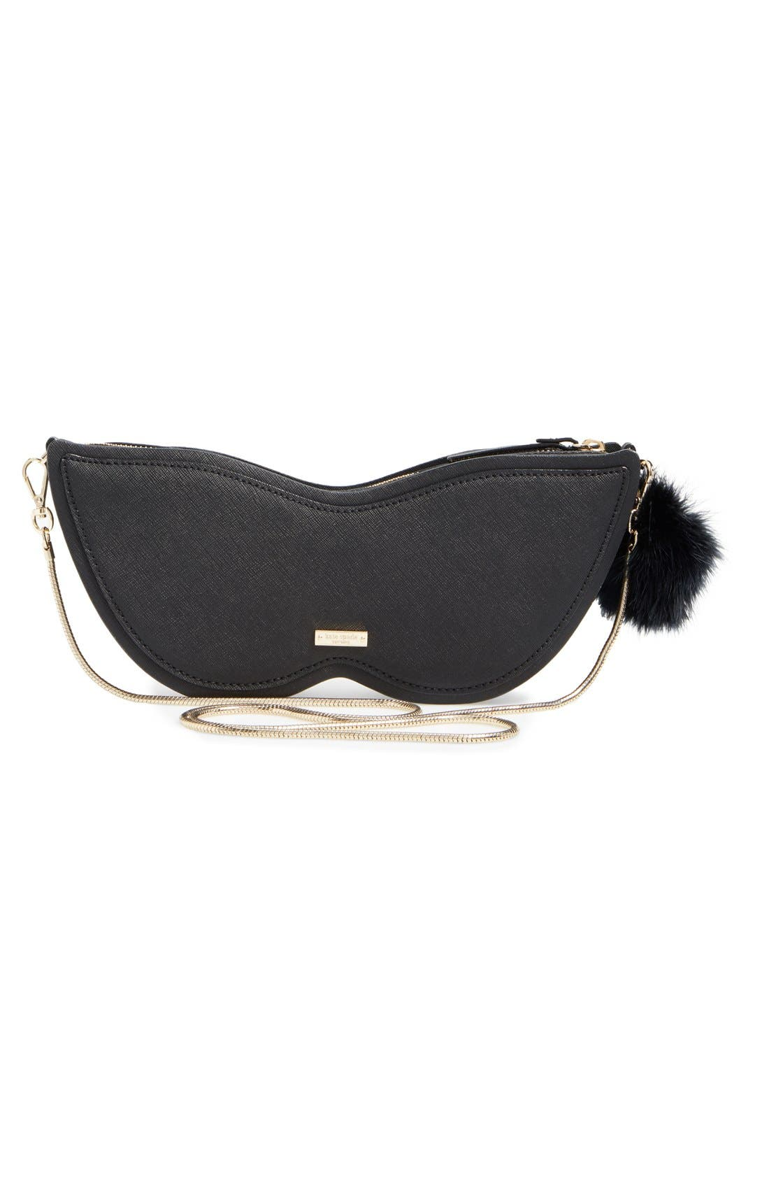 Alternate Image 3  - kate spade new york dress the part glitter mask clutch