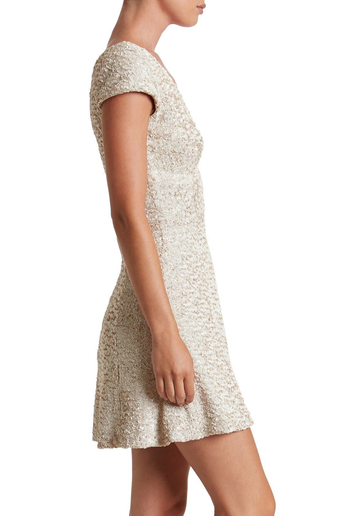 Alternate Image 3  - Dress the Population Georgina Sequin Fit & Flare Dress