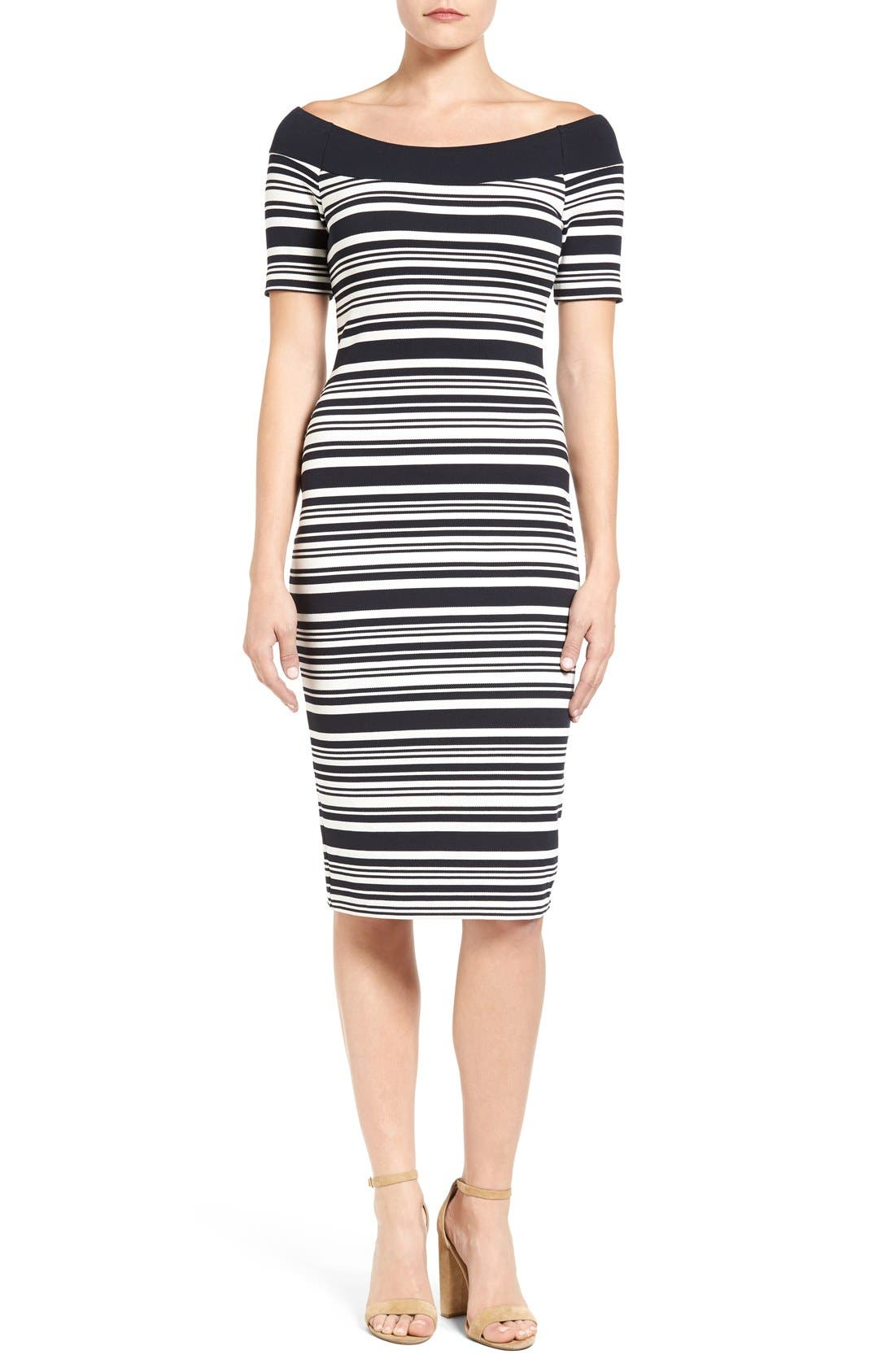 Main Image - MICHAEL Michael Kors Stripe Body-Con Dress