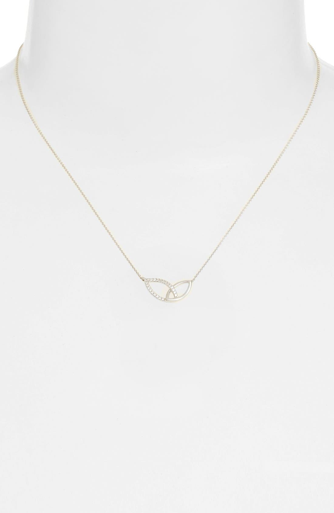 Dana Rebecca Designs 'Lori Paige' Marquise Diamond Pendant Necklace