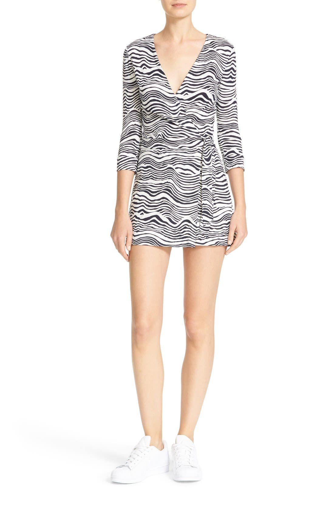 Alternate Image 1 Selected - Diane von Furstenberg Celeste Silk Romper