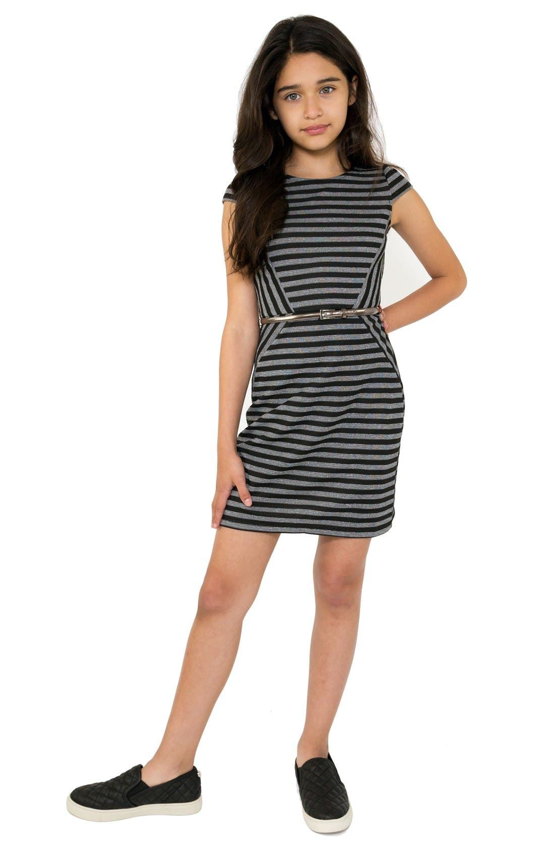 BLUSH BY US ANGELS Stripe Sheath Dress