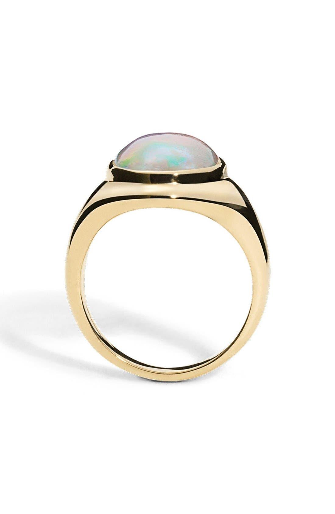 Alternate Image 2  - Shinola Opal Signet Ring
