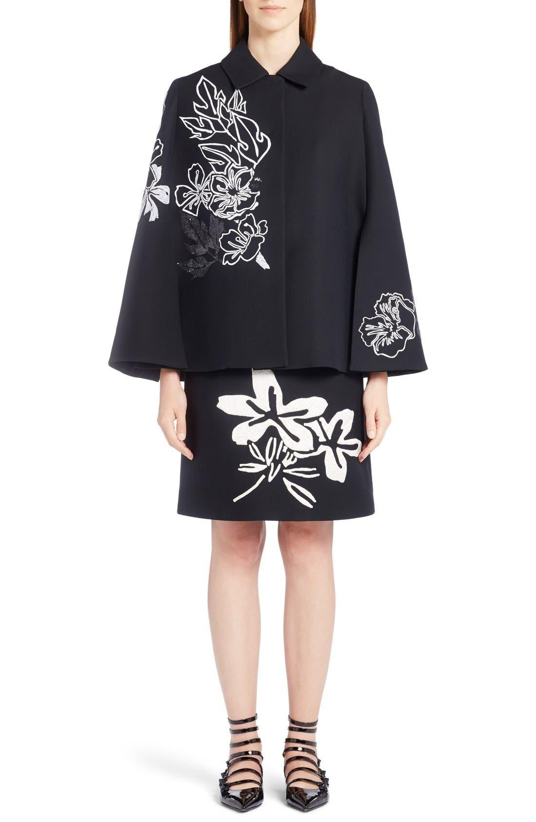 Alternate Image 6  - Fendi Floral Embroidered Wool & Silk Cape