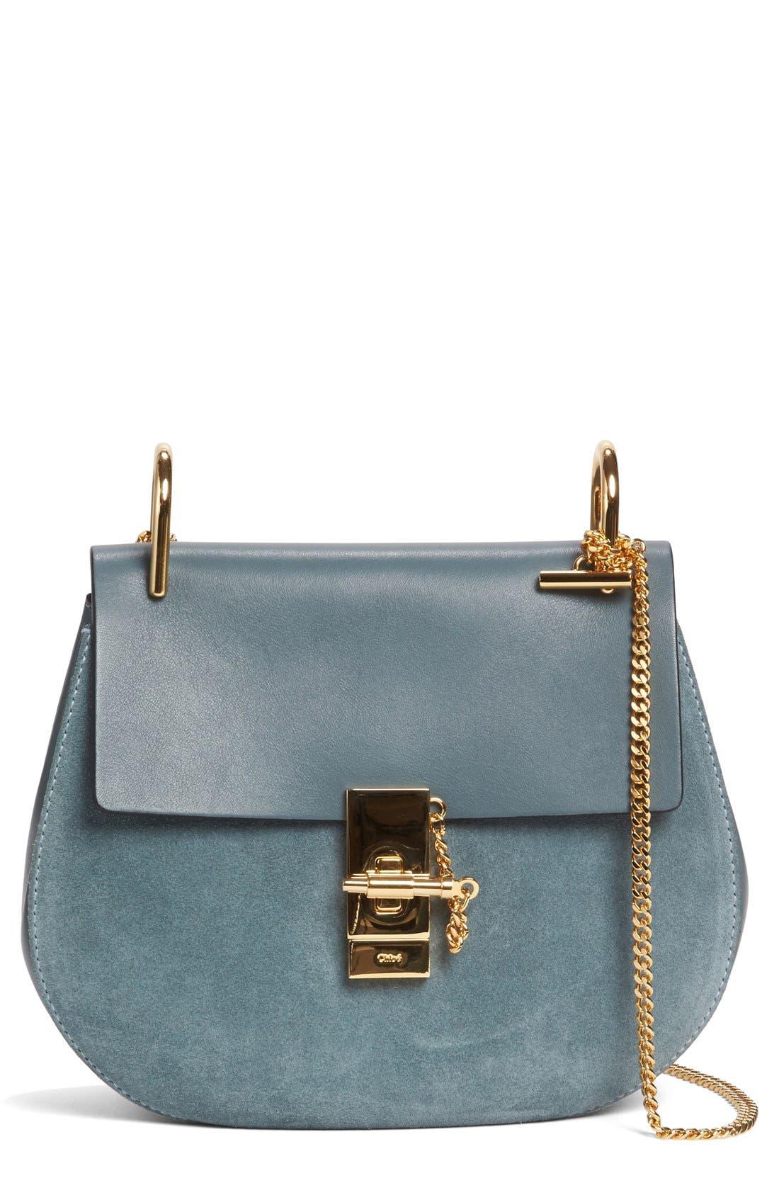 Alternate Image 1 Selected - Chloé Drew Leather & Suede Shoulder Bag