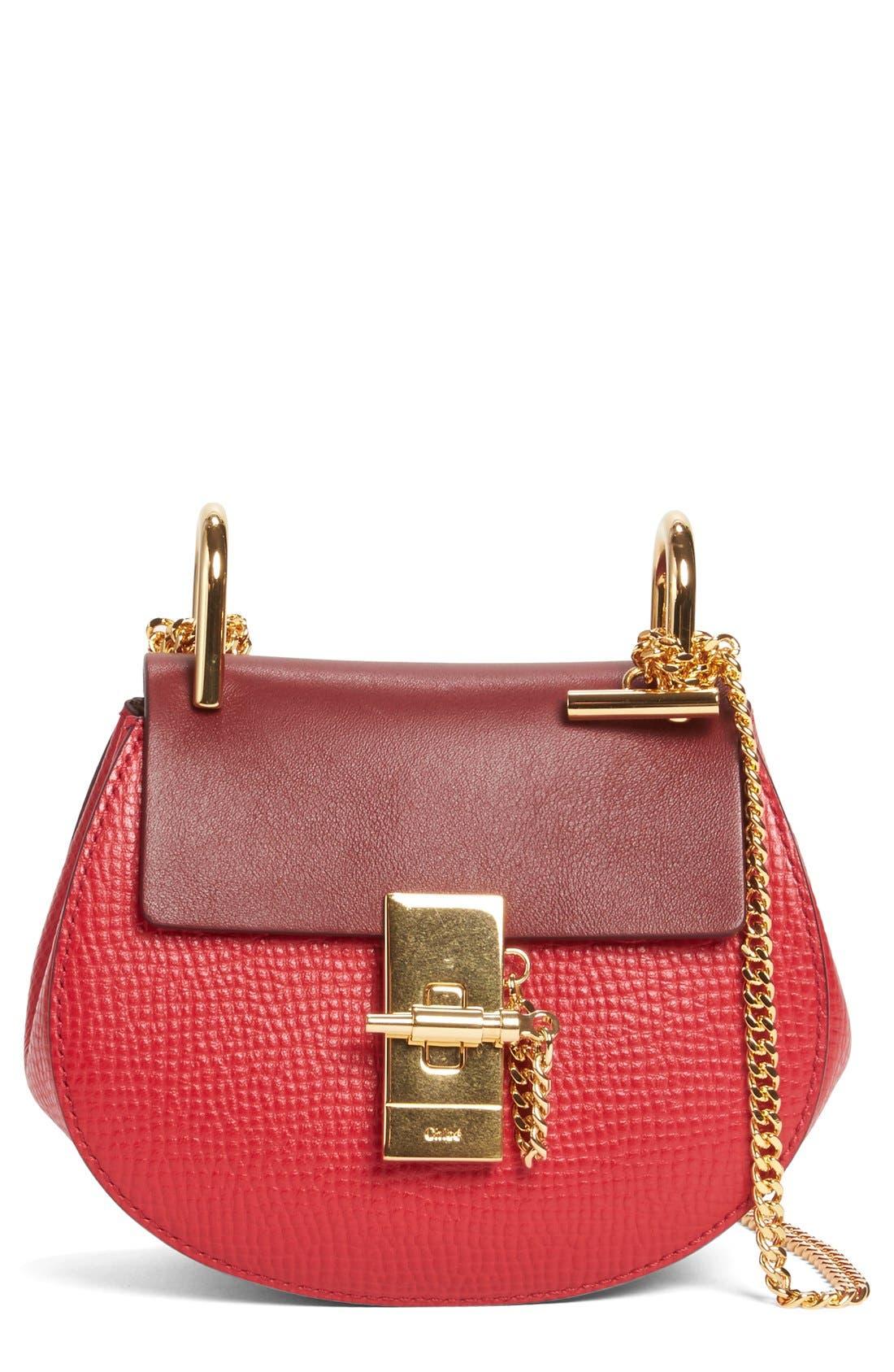 Main Image - Chloé Nano Drew Calfskin Shoulder Bag