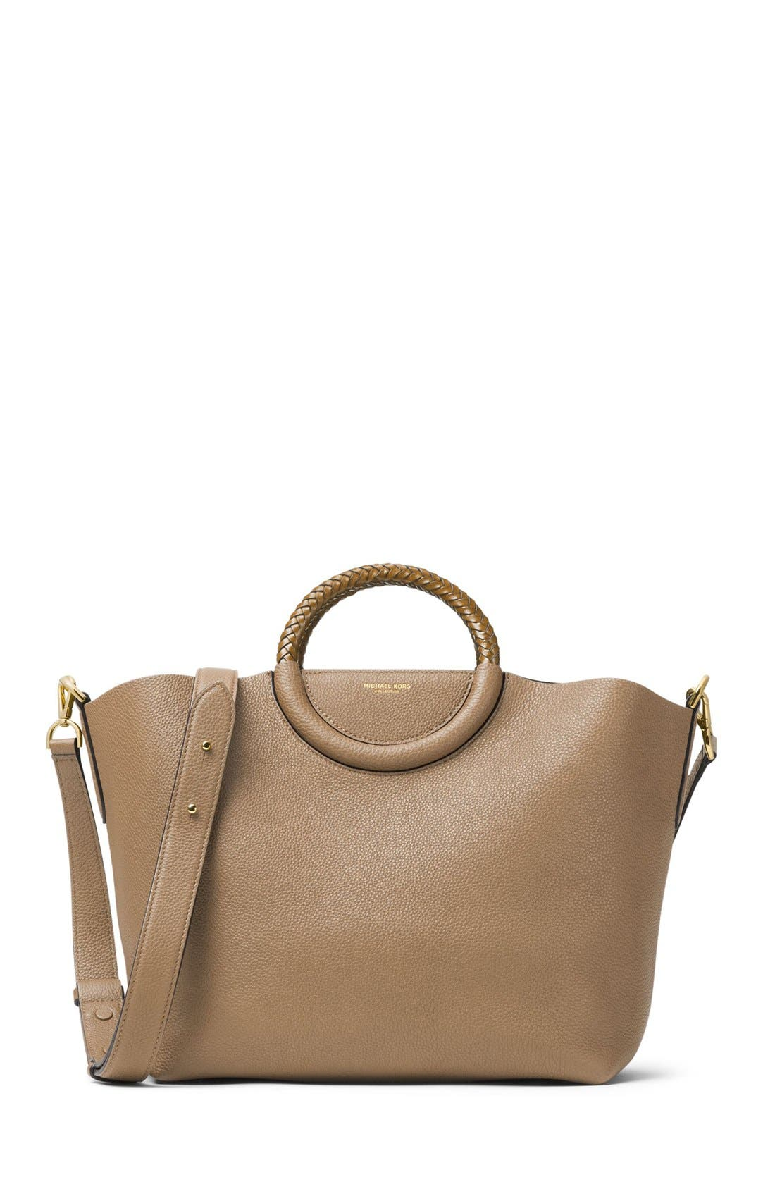 Michael Kors Skorpios Leather Market Bag