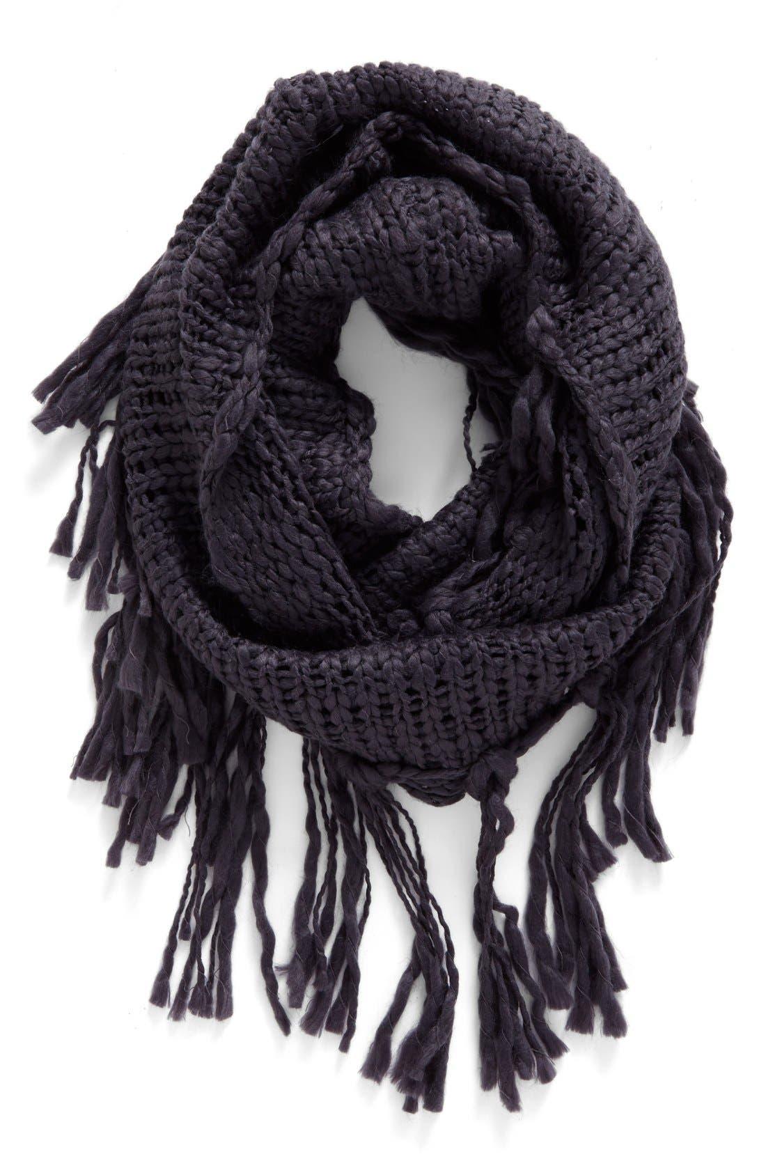 Alternate Image 1 Selected - BP. Chunky Knit Fringe Scarf