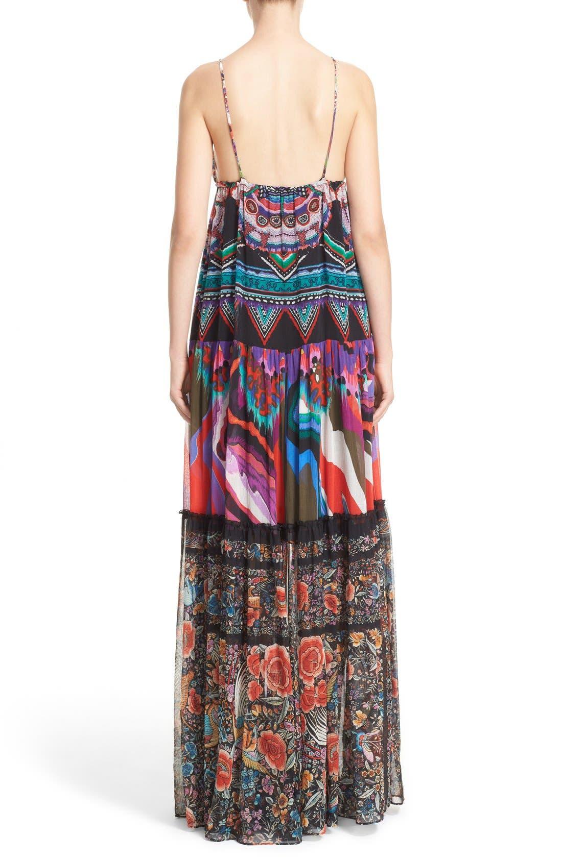 Alternate Image 2  - Roberto Cavalli Print Silk Maxi Dress