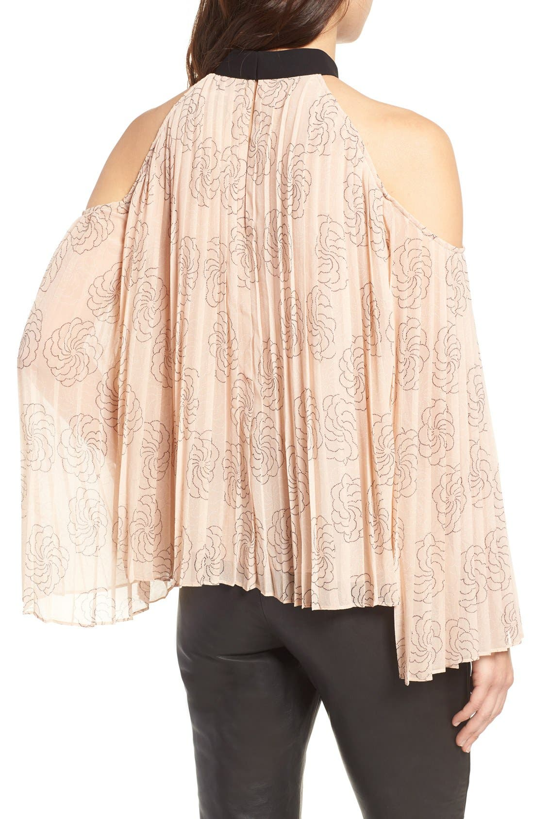 Alternate Image 2  - Chelsea28 Pleat Cold Shoulder Top