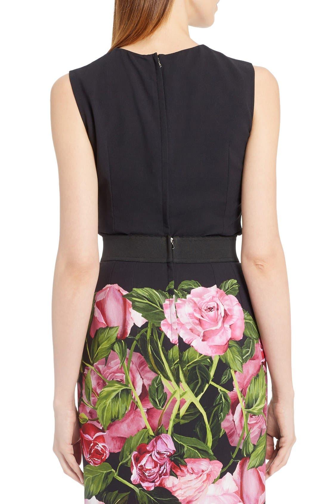 Alternate Image 2  - Dolce&Gabbana Rose Print Cady Top