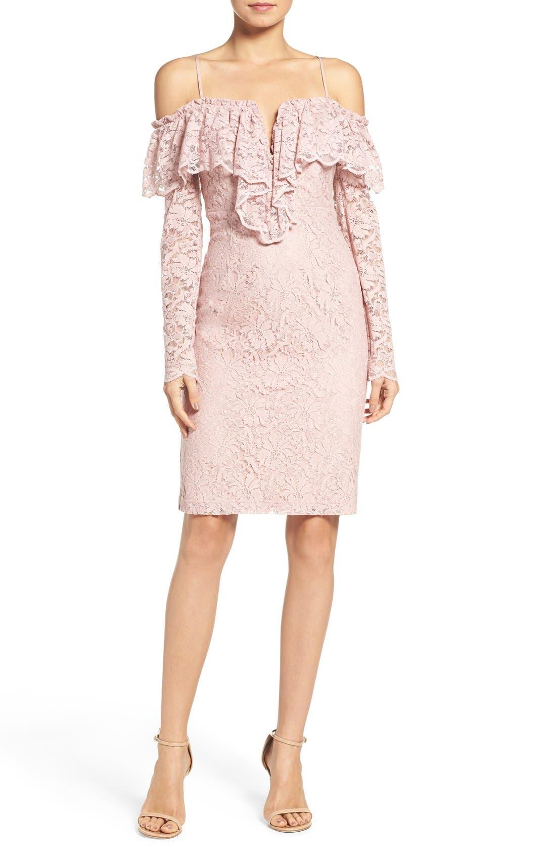 Alternate Image 4  - Bardot Allessandra Lace Sheath Dress