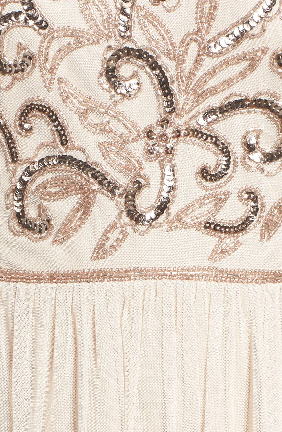 Alternate Image 5  - Adrianna Papell V-Neck Embroidered Bodice Gown