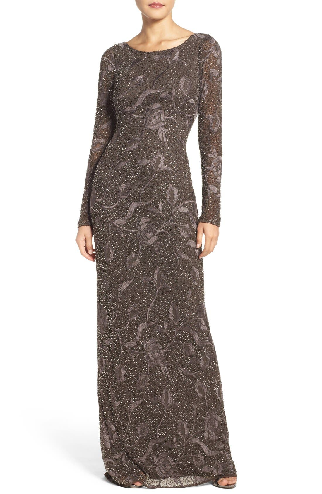 Aidan Mattox Embroidered Beaded Gown Nordstrom