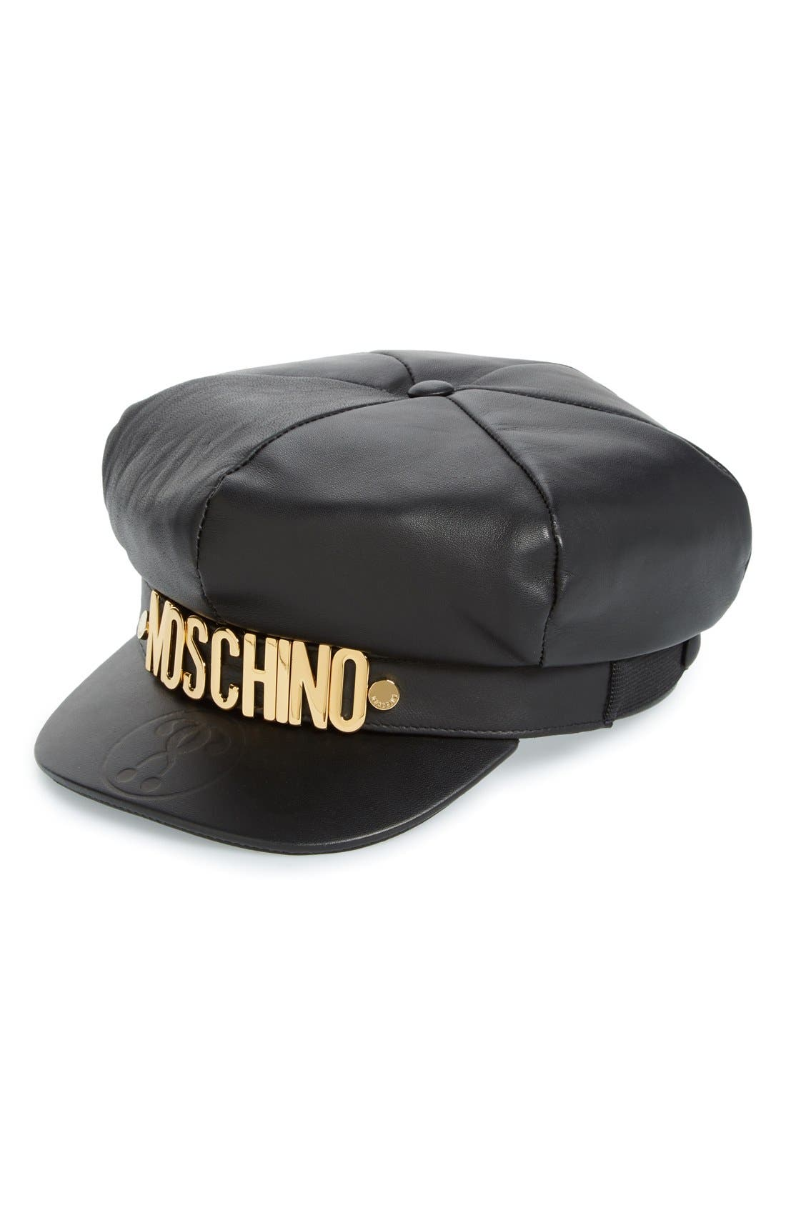 Moschino Leather Cap