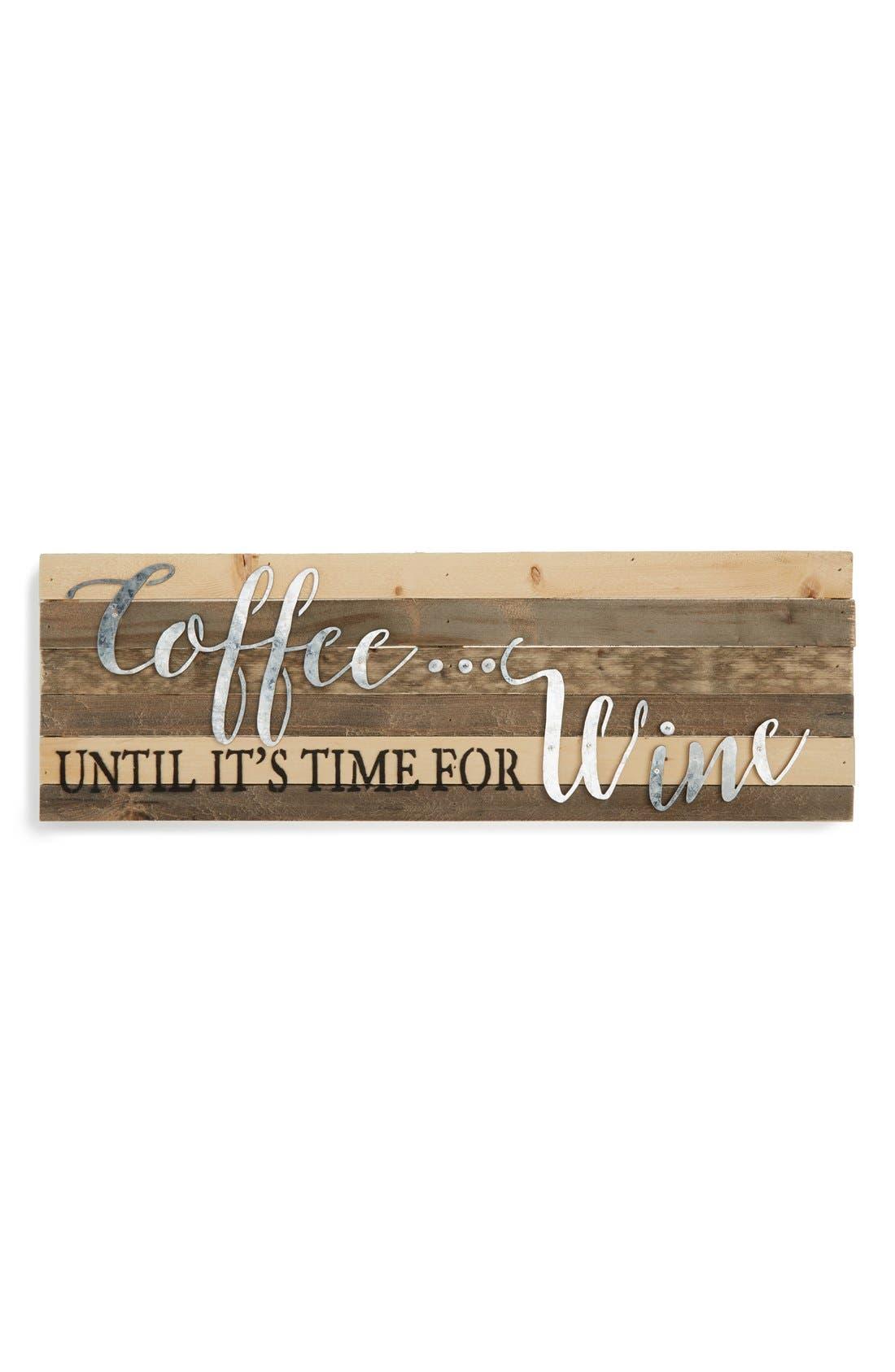 Alternate Image 1 Selected - Sweet Bird Coffee & Wine Wood Wall Art