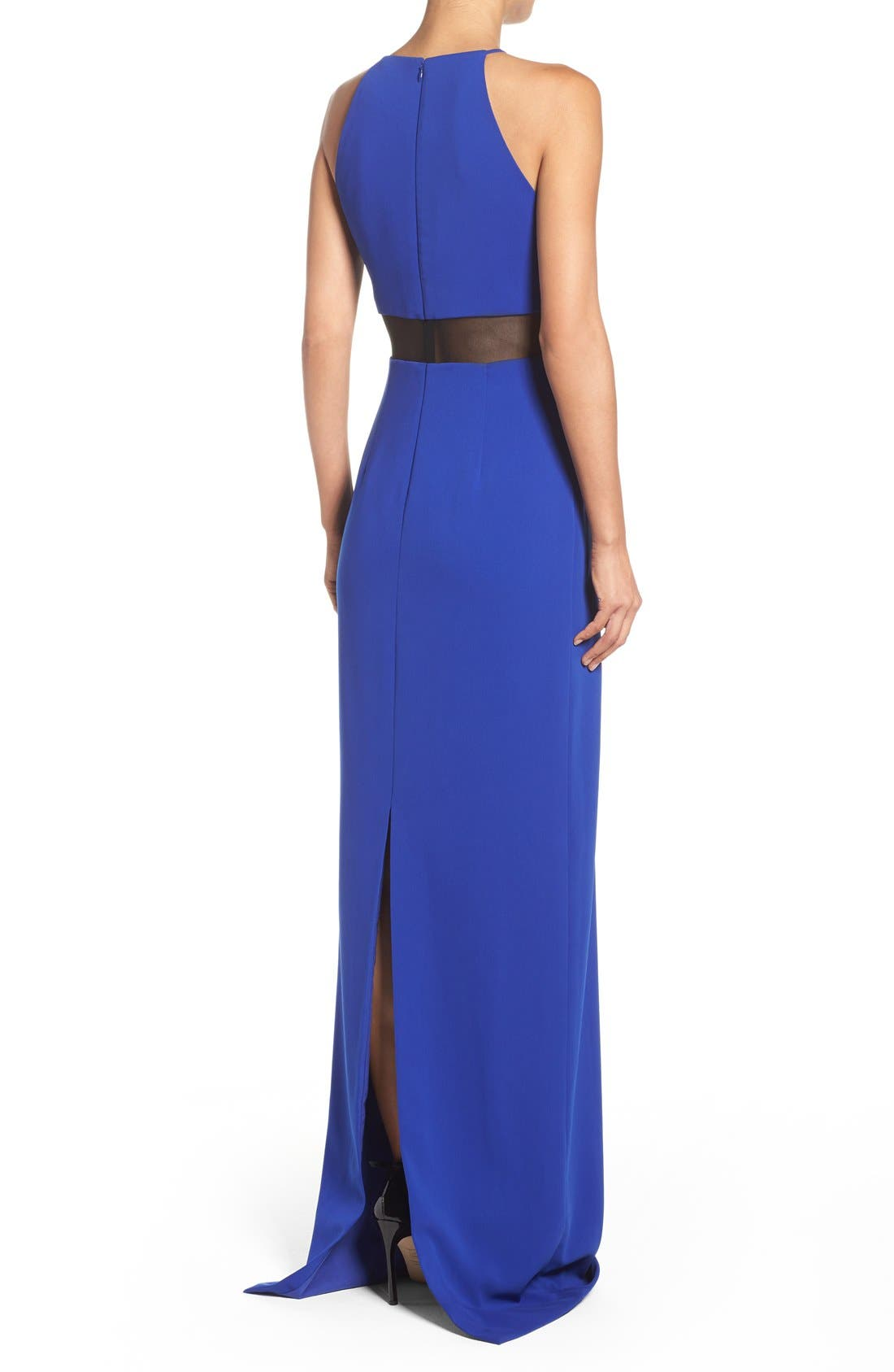 Alternate Image 2  - Badgley Mischka Mesh Inset Gown