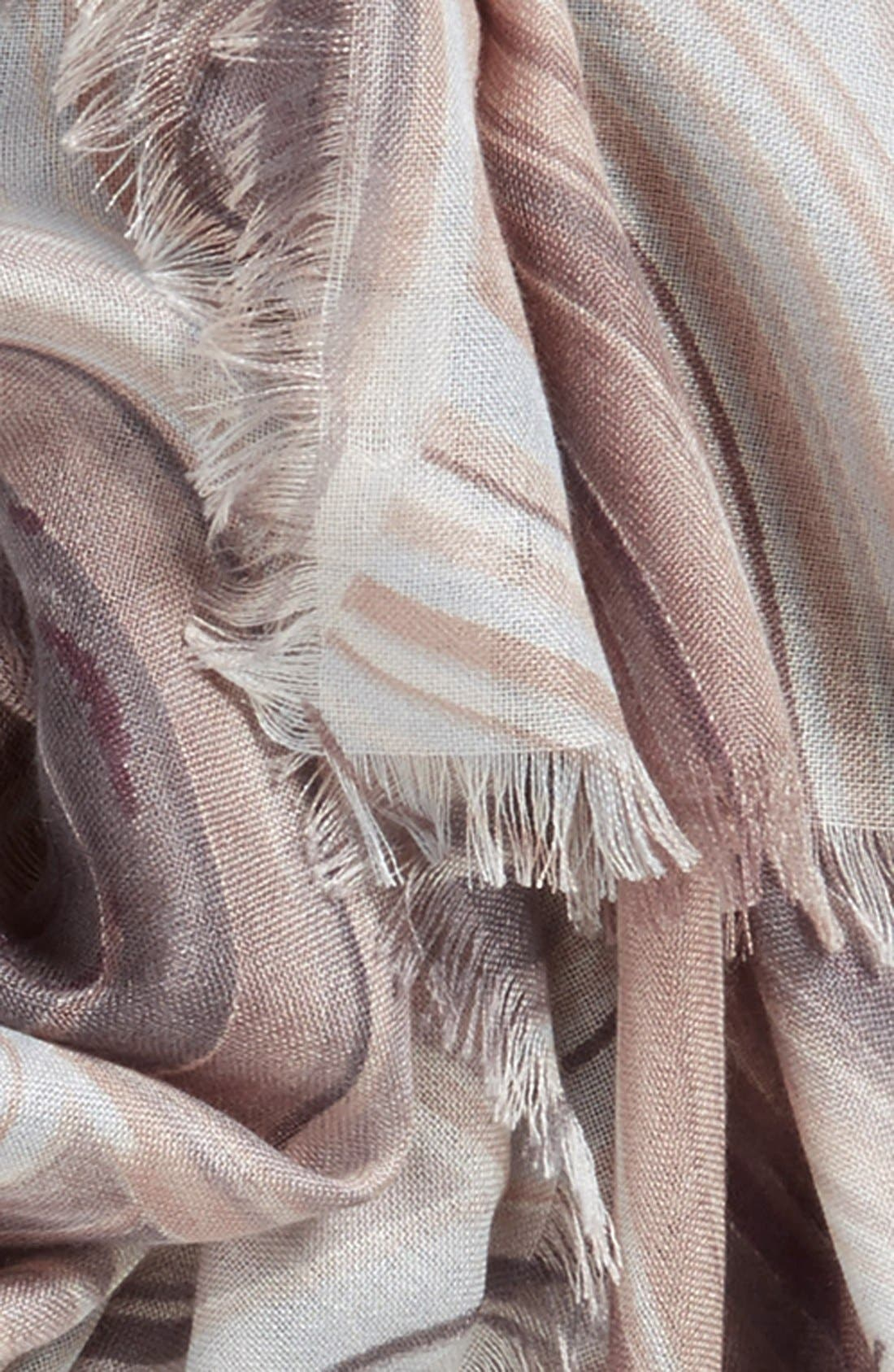 Alternate Image 3  - Nordstrom Abstract Print Cashmere & Silk Scarf