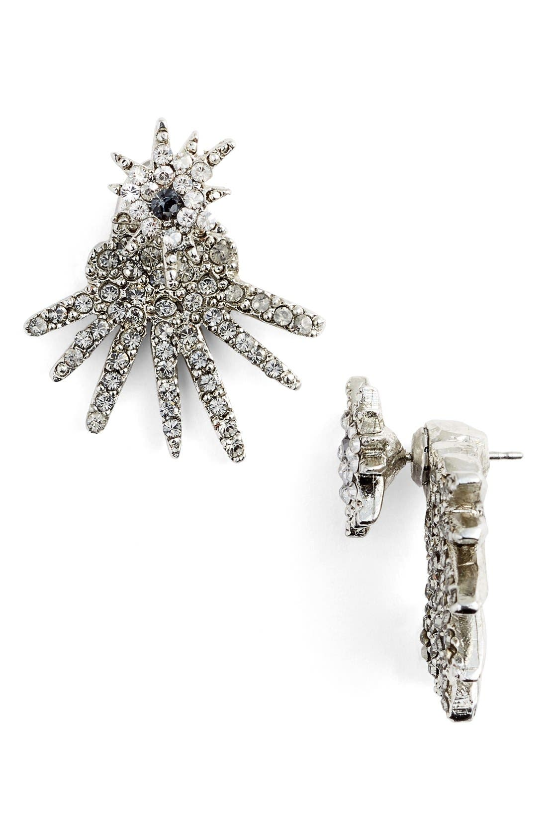 Alternate Image 1 Selected - Oscar de la Renta 'Celestial Star' Crystal Ear Jackets