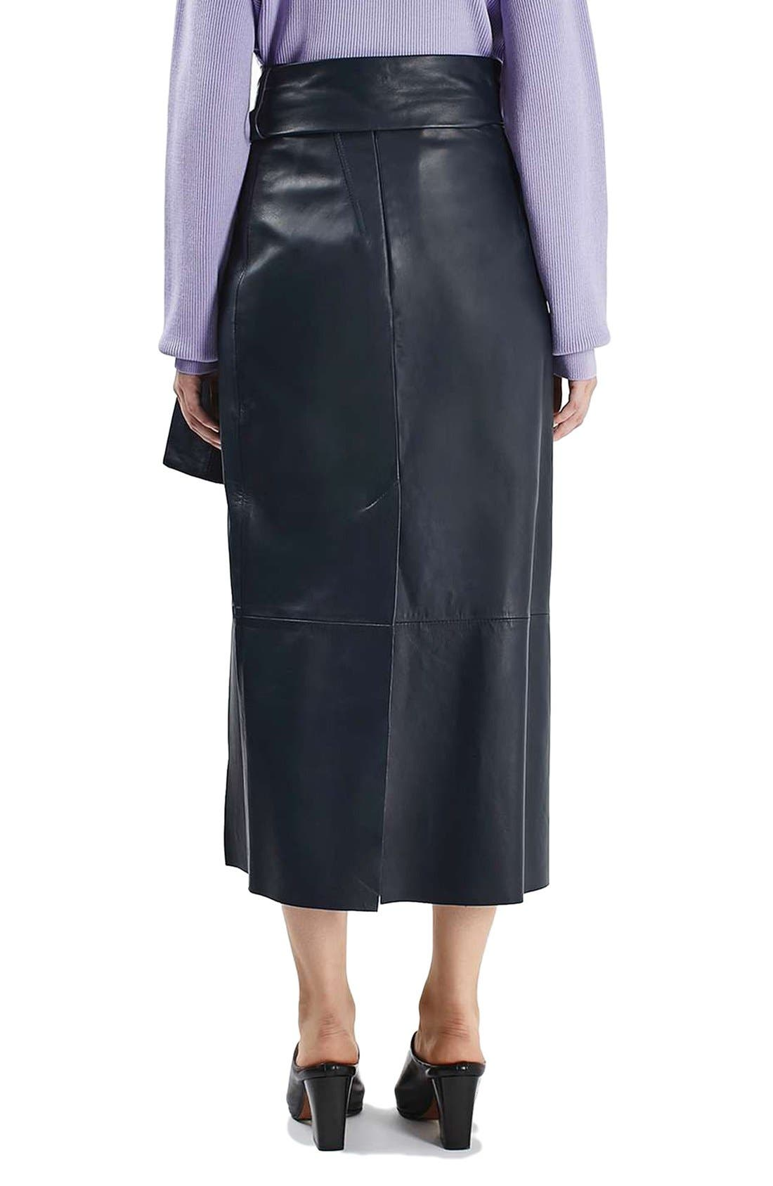 Alternate Image 3  - Topshop Boutique Belted Leather Skirt