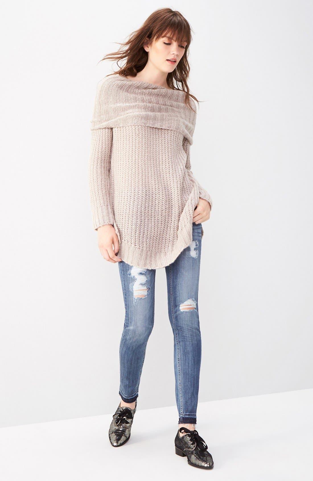 Alternate Image 2  - Vigoss 'Chelsea' Destroyed Skinny Jeans
