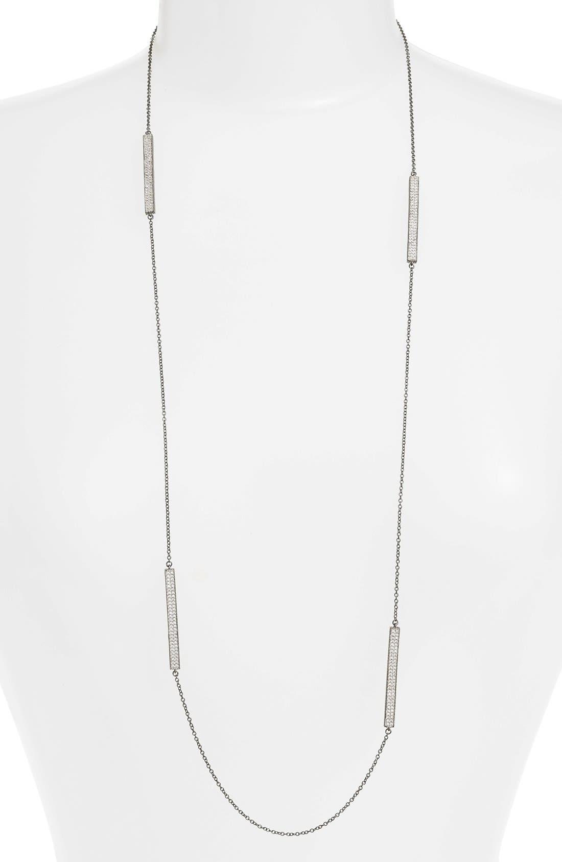 FREIDA ROTHMAN Contemporary Deco Station Necklace