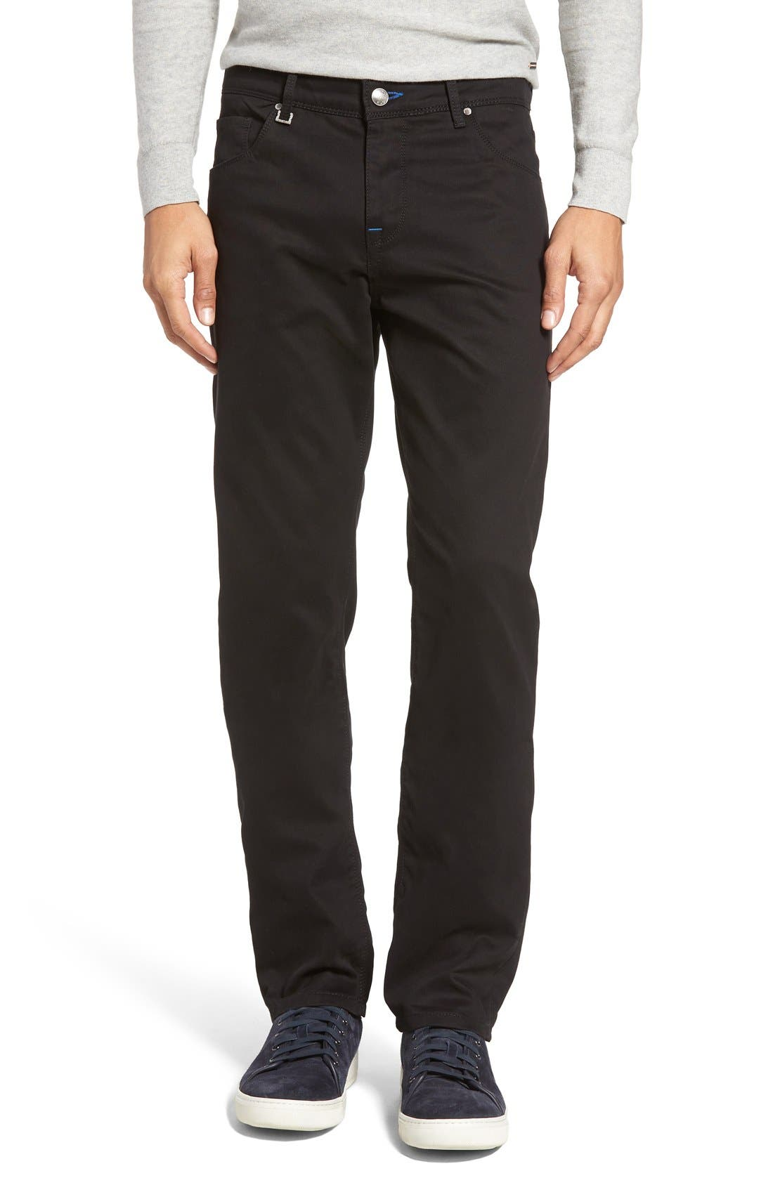BUGATCHI Slim Fit Five-Pocket Pants