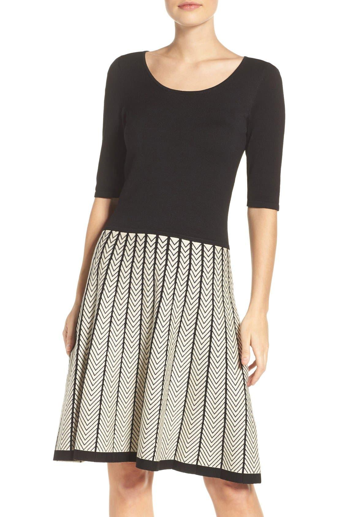Alternate Image 1 Selected - Gabby Skye Fit & Flare Sweater Dress