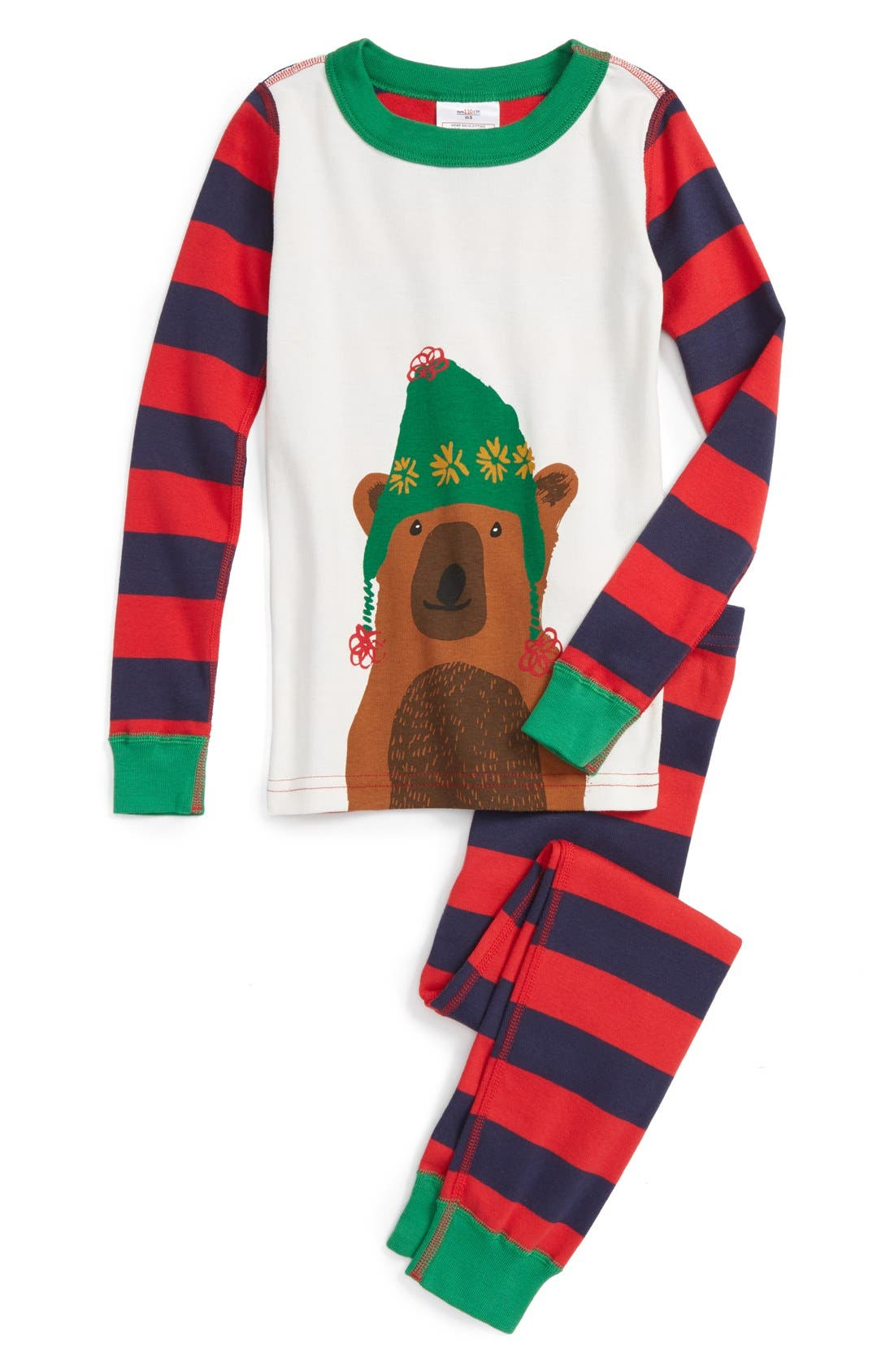 Main Image - Hanna Andersson Holiday Organic Cotton Fitted Two-Piece Pajamas (Toddler, Little Kid & Big Kid)
