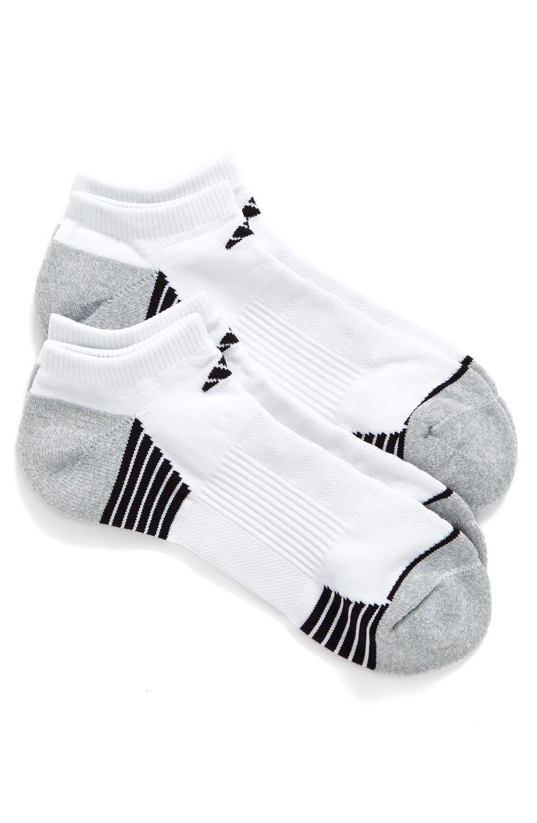 Alternate Image 1 Selected - adidas 2-Pack Superlite Speed No-Show Socks
