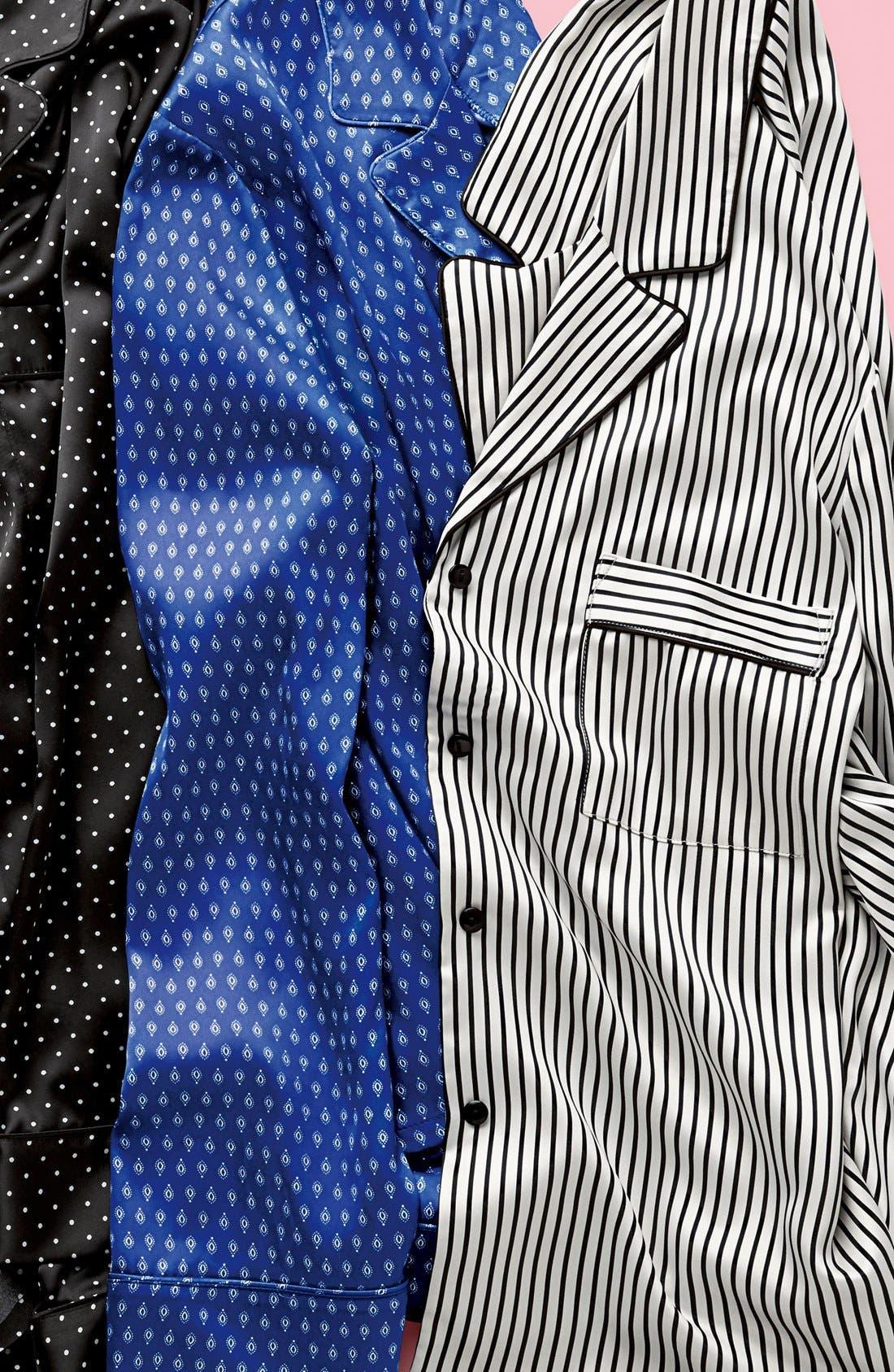Alternate Image 7  - In Bloom by Jonquil Print Satin Pajamas