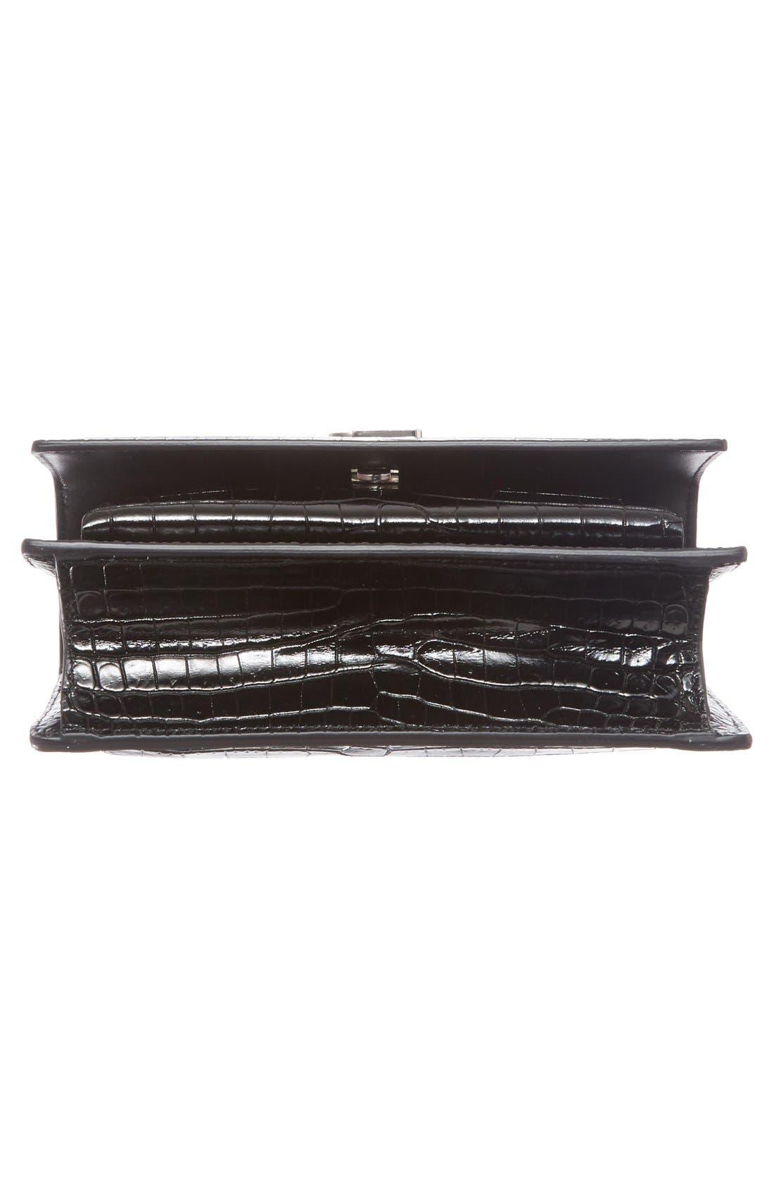 Alternate Image 6  - Saint Laurent Mini Monogram Sunset Croc Embossed Leather Shoulder Bag