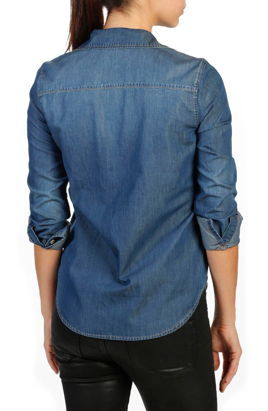 Alternate Image 2  - PAIGE Trista Denim Shirt