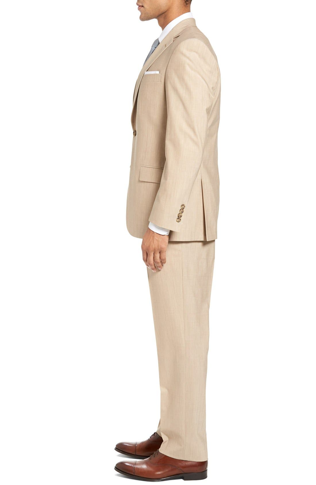 Alternate Image 3  - Hart Schaffner Marx New York Classic Fit Solid Stretch Wool Suit