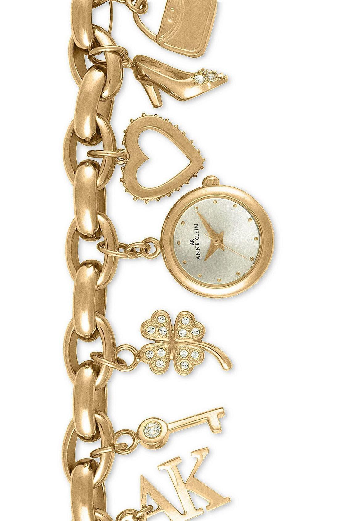 Alternate Image 1 Selected - Anne Klein Charm Bracelet Watch