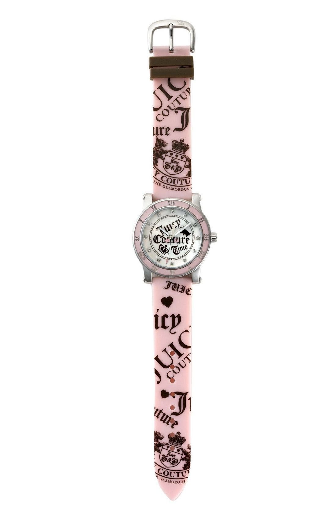 Alternate Image 2  - Juicy Couture Jelly Band Sport Watch